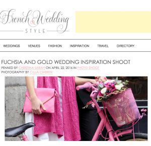 http://www.frenchweddingstyle.com/fuchsia-gold-wedding-inspiration-shoot/